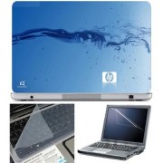 Finearts Laptop Skin Hp Water Effect With Screen Guard And Key Protector - Size 15.6 Inch