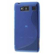 Wave Case for Motorola RAZR HD 4G XT925 - Motorola Soft Cover (Frosted Blue/Blue)