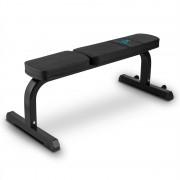 Capital Sports Flat B, fekete, 250 kg, egyenes fekvenyomó pad, súlyzó pad, acél (FIT20-Robustar)