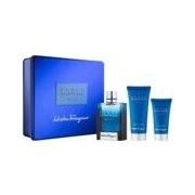 Ferragamo Salvatore Ferragamo Acqua Essenziale Blu Set (Eau De Toilette 100 Ml + Shower Gel 100 Ml + After Shave 50 Ml) (8052086373280)