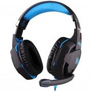 Audífonos Gamer, G2100 Gaming Función De Vibración Auriculares Con Micrófono Auriculares Estéreo LED De Luz (azul Negro)