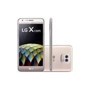 Smartphone LG X Cam Dual Chip Android 6.0 Marshmallow Tela 5.2 16GB 4G Câmera 13MP - Dourado