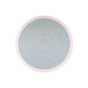 Alfombra redonda en algodón rosa y gris 120 cm BRENDA - Miliboo
