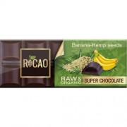 Ciocolata Cu Banane Si Seminte De Canepa Raw Bio 38gR