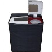 Glassiano Dark Gray Waterproof Dustproof Washing Machine Cover For semi automatic Videocon Typhoon Plus 6 Kg Washing Machine