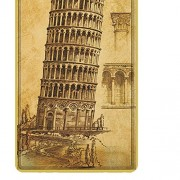 ELECTROPRIMEÃ'® Retro Metal Tin Sign DIY Wall Plaque Decorative Poster Leaning Tower of Pisa
