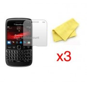 Lot 3x Film De Protection Écran Screen Protector Pour Blackberry 9790 Bold