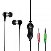 "Слушалки LogiLink HS0018A, микрофон, тип ""тапи"", черни, 2x 3.5mm jack"