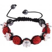 Shamballa náramek LS Fashion LSB0031 červený