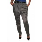 Pantaloni casual din saten D and J Exclusive Gri 38 EU