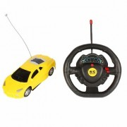 Super Racer Steering Remote Control Car (Yellow) BY Bgc
