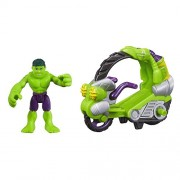 Playskool Heroes Marvel Super Hero Adventures Hulk Figure with Tread Racer Vehicle