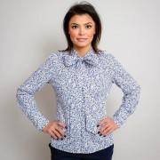 Női kék fehér ing Willsoor virágos / növényes 10342