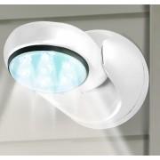 Lampa cu 7 led-uri si senzor de miscare-alb