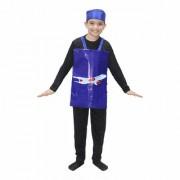 Kaku Fancy Dresses Aeroplane Costume/Object Fancy Dress Costume -Multicolor 3-8 Years for Unisex