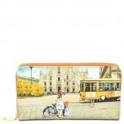 Y Not? Portafoglio Donna Y NOT L-361 Fashion Tram - Chiusura Zip Around