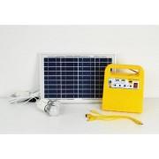 GALIX Verlichtingsset voor zonne-energie - Met radiofunctie, MP3-speler en USB-oplader - Lamp Ø 4,8 cm