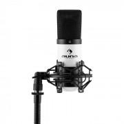 Auna MIC-900WHMicrophone à condensateur USB studio -blanc
