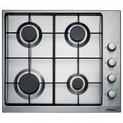 Plita incorporabila BHGI63100018, 4 arzatoare, aprindere electrica integrata in buton, Inox