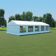 vidaXL Pavilion de grădină, alb, 5 x 10 m, PVC