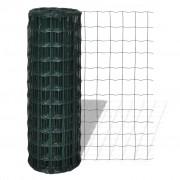 vidaXL Оградна мрежа с PVC покритие, 76 х 63 см размер на дупките, 10 1.8 м