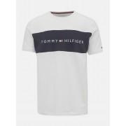 Tommy Hilfiger bianchi da uomo maglietta CN SS Tee Logo Flag - XL