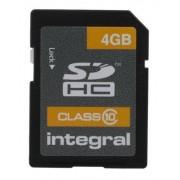 Integral Memory Micro SD , 4 GB, Scheda SDHC, INSDH4G10V1