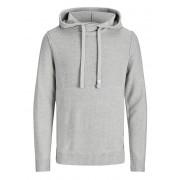 Jack&Jones Hanorac pentru bărbați Knit Hood Light Grey Melange XL