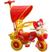 Amardeep Baby Tricycle Red 866433 cms 1-3 yrs W/Shade and Parental Control