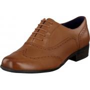 Clarks Hamble Oak Dark Tan Leather, Skor, Lågskor, Finskor, Brun, Dam, 40