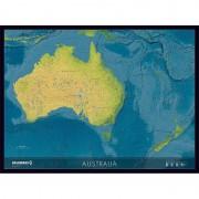 Harta continentala Australia Columbus