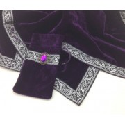 Mysterious purple / purple self-fabric pouch TC055 of cross tarot soft velvet mystery (japan import)
