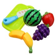 6PCS Fun Cut Fruit Kitchen Kids Cutting Pieces Role Play House Toy
