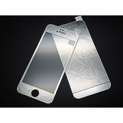 3D Diamond Pattern screen guard For Apple Iphone 4/4S/ Front And Back-Silver