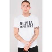 Alpha Industries Camo Print Tričko M Bílá