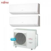 Fujitsu Climatizzatore Condizionatore Fujitsu Dual Split Parete Inverter Serie Lm 7000+9000 Btu Con Aoyg14lac2 7+9