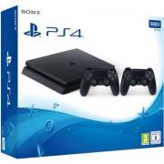 Конзола Sony Playstation 4 Slim 500GB Black + Втори допълнителен джойстик PS4 Dualshock 4 V2 Black