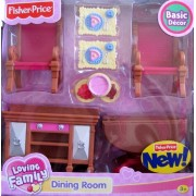 Loving Family Dining Room Basic Decor Playset - For Grand Dollhouse (2008)