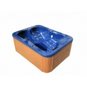 Whirlpool Outdoor Whirlpool Hot Tub Spa Lyon blau mit 27 Massage Düsen + Heizung + Ozon...