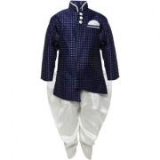 AJ Dezines Kids Party Wear Navy Blue Color Indo Western Set For Boys