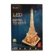 Puzzle CubicFun Exclusiv Turnul-Eiffel 3D set cu LED luminare 89 piese