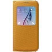Husa tip S-View Samsung EF-CG920B pentru Galaxy S6 G920 (Galbena)