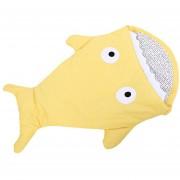 Invierno Dulce Dibujos Animados Tiburón Bebés Espesa Mantas Infantil Blanket-amarillo