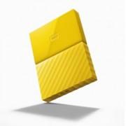 """4TB Western Digital My Passport WDBYFT0040BYL(жълт), външен, 2.5"""" (6.35 cm), USB 3.0"""