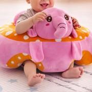 Fotoliu pentru bebe, Elefant roz