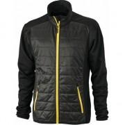Myrtle Beach Heren hybride jas zwart en geel