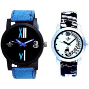 Fancy Number Black Dial And Black Peacock Couple Analogue Watch By Vivah Mart
