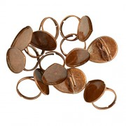 MagiDeal 10pcs Adjustable Ring Blanks 25x18mm Waterdrop Shape Cabochon Rings Settings - copper, as described