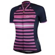 Nyári női kerékpáros mez Rogelli İspir rövid ujj, kék és rózsaszín 010.150.