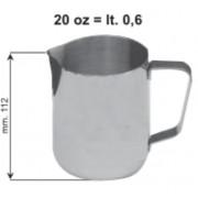 Inox tejkiöntő 0,6L